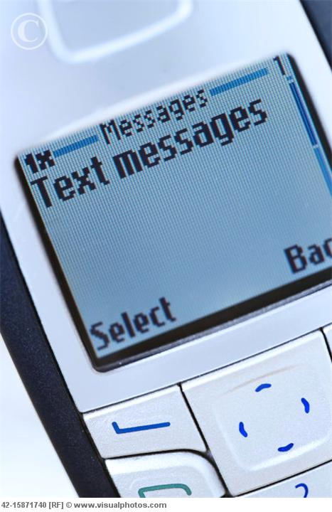 Text messages Message on Cell Phone Screen