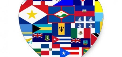Carib flags heart